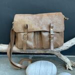 Sac Craie Mini Maths Cuir - Astro Taupe