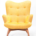 Fauteuil Angel wings tweed jaune (photo 2)