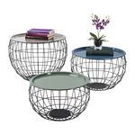 Tables bas costa Wire - set de 3