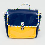 Cartable Not so big - Petit modèle bleu/jaune/étoiles (photo 2/3)