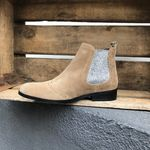 Bottines Catherine Parra - Disco Perforée Taupe