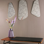 Miroir Out of balance argent - Set de 3