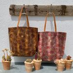 Sac Isabelle Varin - Cabas Laner Reptile Coconut