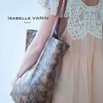 Sac Isabelle Varin - Cabas Laner Reptile Coconut (photo 3)