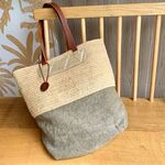 Sac Estellon - Celeste Raphia Naturel