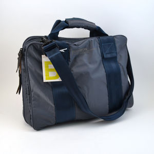 Sac Bensimon Computer bag bleu gris (photo 1/2)