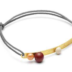 Bracelet Louise Kragh - Ball orange/cashmere (photo 1/1)