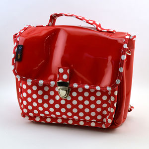 Cartable not so big pois rouge (photo 1/2)