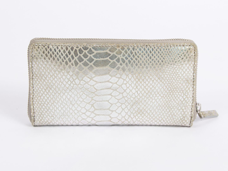 vente chaude en ligne ae4b3 70ec3 La Femme › Bagagerie › Petite Maroquinerie › Portefeuille Petite Mendigote  - Galia Python silver | Boutique cdvshop.com