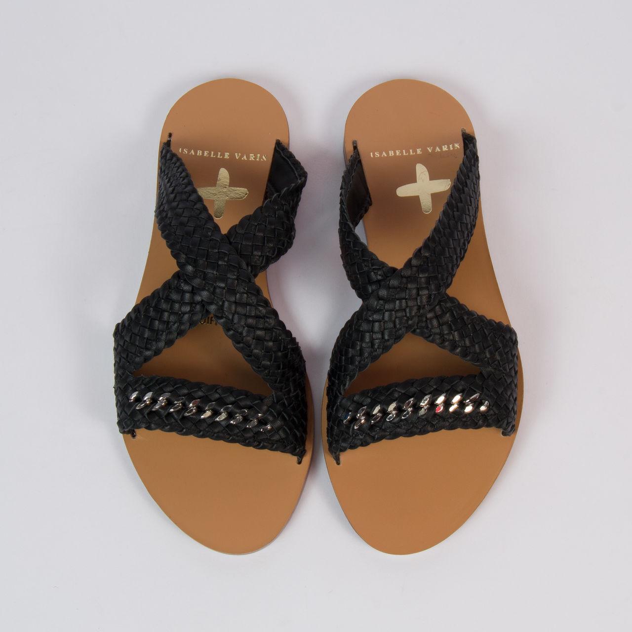 Varin › Isabelle La Femme Chaussures Shane Tressées NoirBoutique Sandales e9IY2WEDH