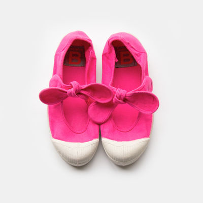 Tennis Bensimon enfant flo rose vif