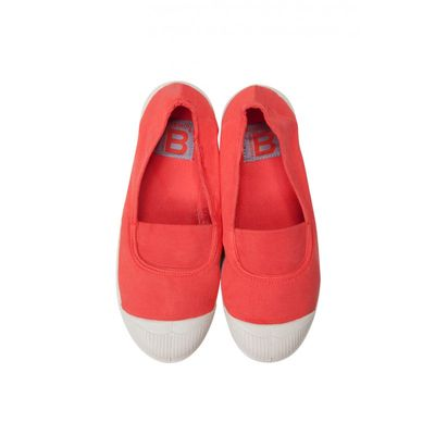 Tennis Bensimon enfant - Elastique orange