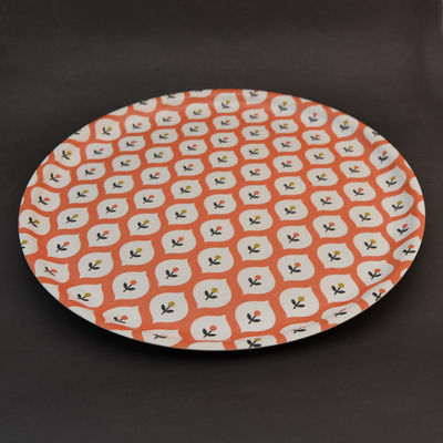 Plateau Mr & Mrs 35cm - motif corail