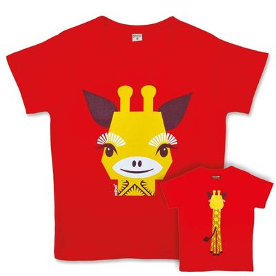 Tee shirt manches courtes Mibo - Girafe (photo 1/5)