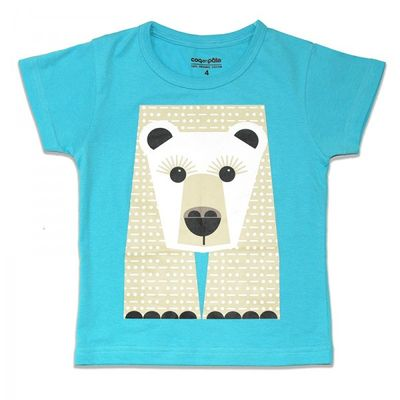 Tee shirt manches courtes Ours blancs Mibo