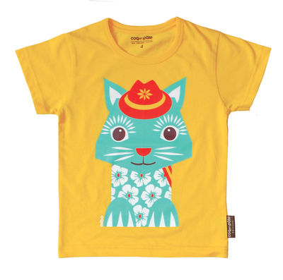 Tee shirt manches courtes Chat Mibo