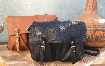Sac Craie Mini Maths - Cuir Bubble noir (photo 1/8)
