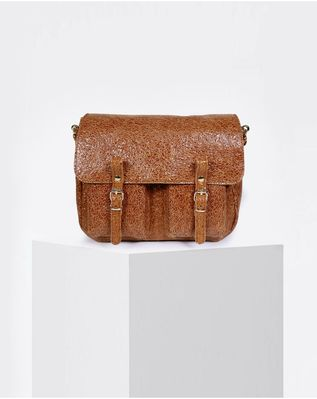 Sac Craie Maxi Maths - Cuir Crack Caramel (photo 1/5)