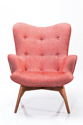 Fauteuil Angel wings tweed corail (photo 1/3)