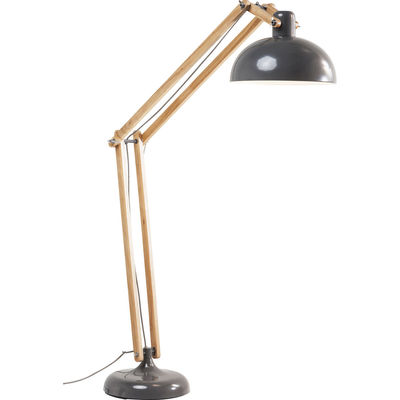 Lampadaire work station gris