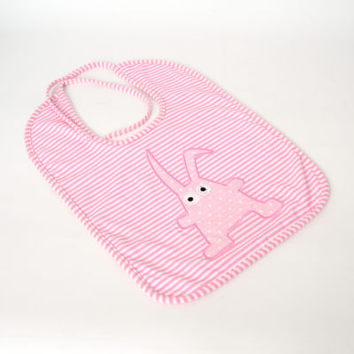 Bavoir doudou - Rabbit rose layette