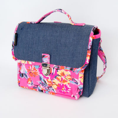 Cartable Not So Big - Petit modèle chambray big flower