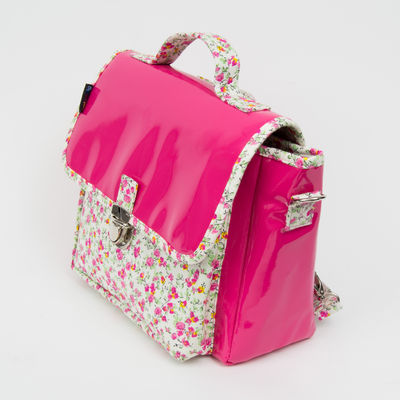 Cartable Not so big - Petit modèle fushia liberty