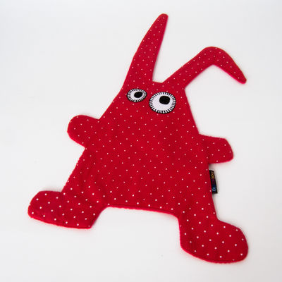 Doudou Toumou - Rabbit rouge / pois (photo 1/1)