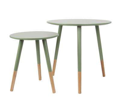 Table Basse Graceful - Vert kaki set de 2