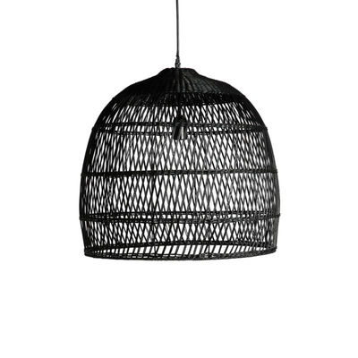 Lampe Suspension Rotin Noir (photo 1/1)