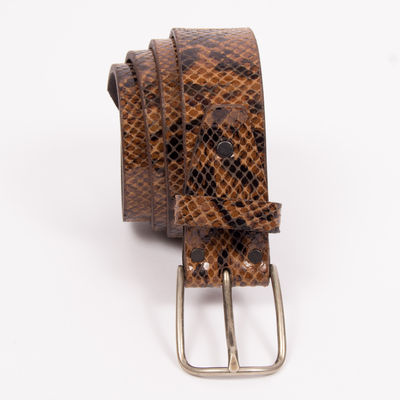 Ceinture Isabelle Varin - Naily Reptile marron (photo 1/4)