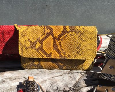 Sac Isabelle Varin  - Simon Reptile Jaune (photo 1/5)